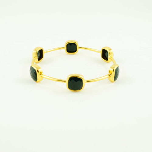 Black Onyx Gem Bangle