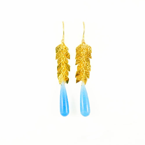Kylie Earrings - Blue Chalcedony