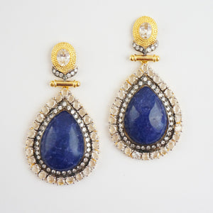 """Mariel"" Earrings - Lapiz Lazuli"