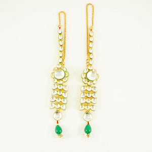 "Green Kundan ""Glam Princess"" Earrings"
