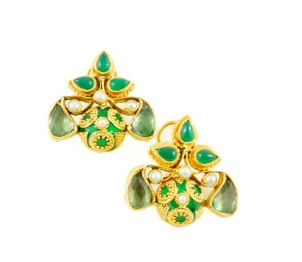 Elena Earrings - Green