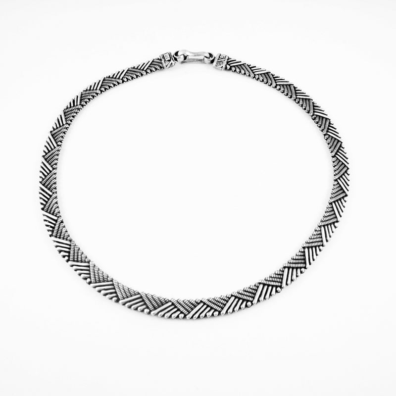 Hasthi Necklace -  Oxidised Silver