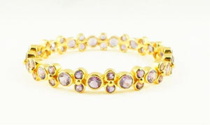 Amethyst Lydia Bangle - Gold