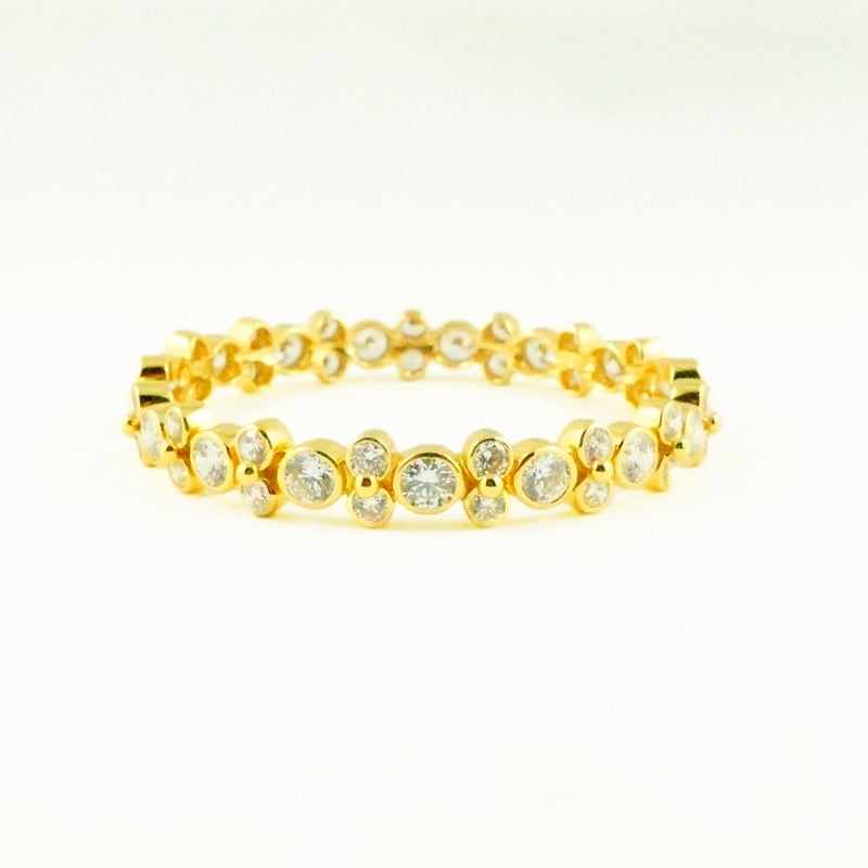 Zircon Lydia Bangle - Gold