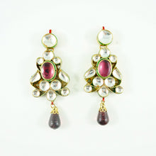 "Load image into Gallery viewer, ""Malle"" Earrings - Purple"