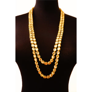 "Kundan ""Feroze"" Rani Haar Long Necklace"