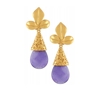 Olympia - Amethyst Drop Earrings