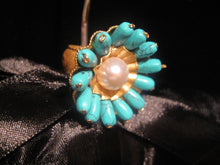 "Load image into Gallery viewer, Round ""Flower"" Ring - Turquoise"