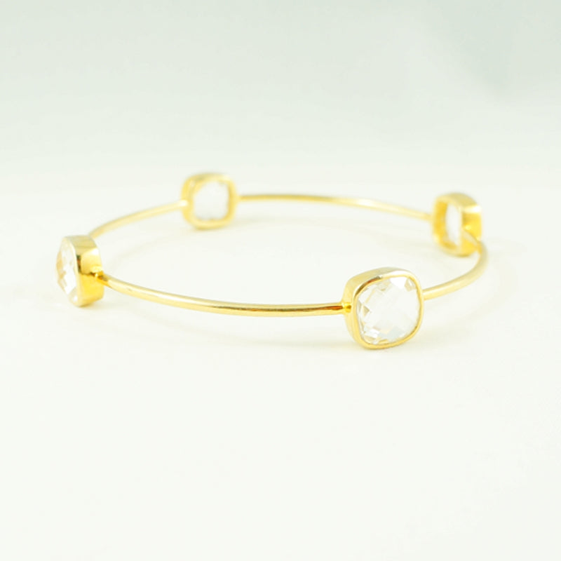 Colourless Quartz Crystal Gem Bangle