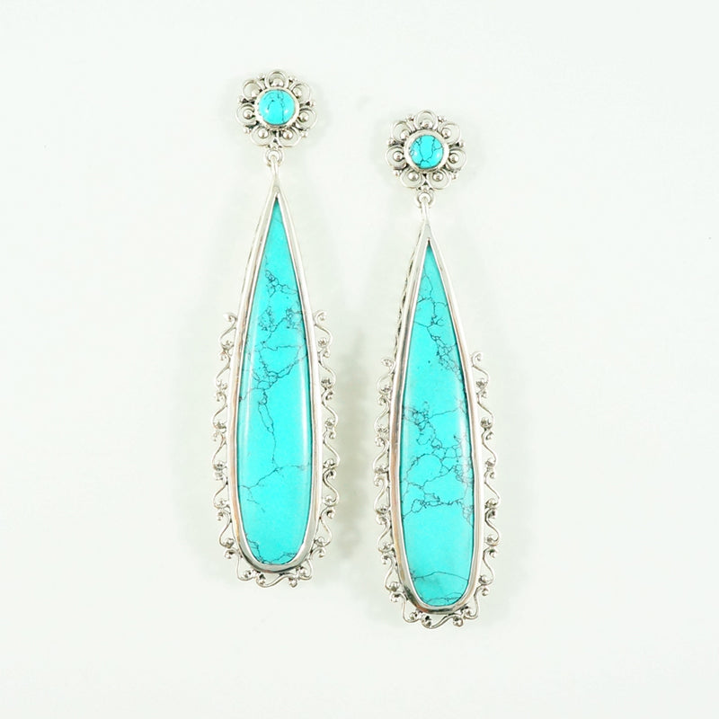 Rebecca - Turquoise Earrings
