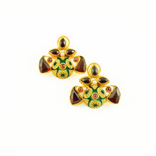 Load image into Gallery viewer, Elena Earrings - Red & Green