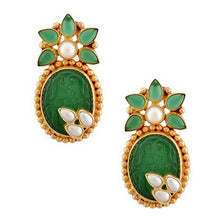 Load image into Gallery viewer, Sophia Earrings - Green Onyx