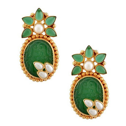 Sophia Earrings - Green Onyx