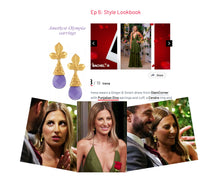 Load image into Gallery viewer, Olympia - Amethyst Drop Earrings