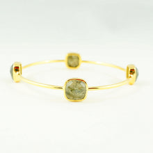 Load image into Gallery viewer, Labradorite Gem Bangle