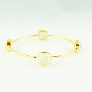 Light Green Chalcedony Gem Bangle