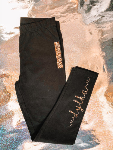 'NAME' Black Leggings - [Bethany]