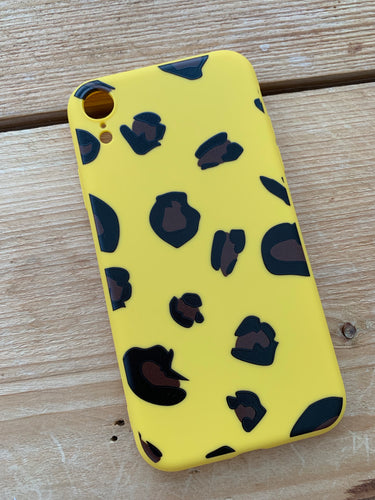 Yellow Leopard Print Phone case