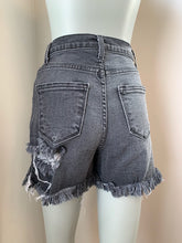 Load image into Gallery viewer, Panther Distressed Shorts