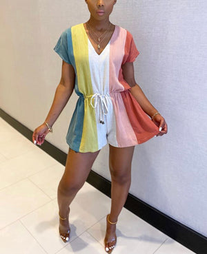Color Block Romper