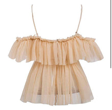 Load image into Gallery viewer, Nude Boho Ruffle Top