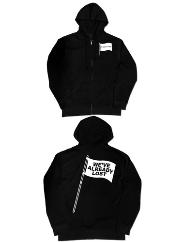 Black 'Flag' Full-Zip Hoodie