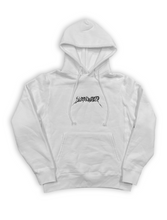 Load image into Gallery viewer, White 'Web' Embroidered Hoodie