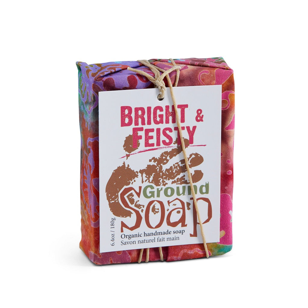 BRIGHT AND FEISTY smooth and refreshing soap with citrus oils
