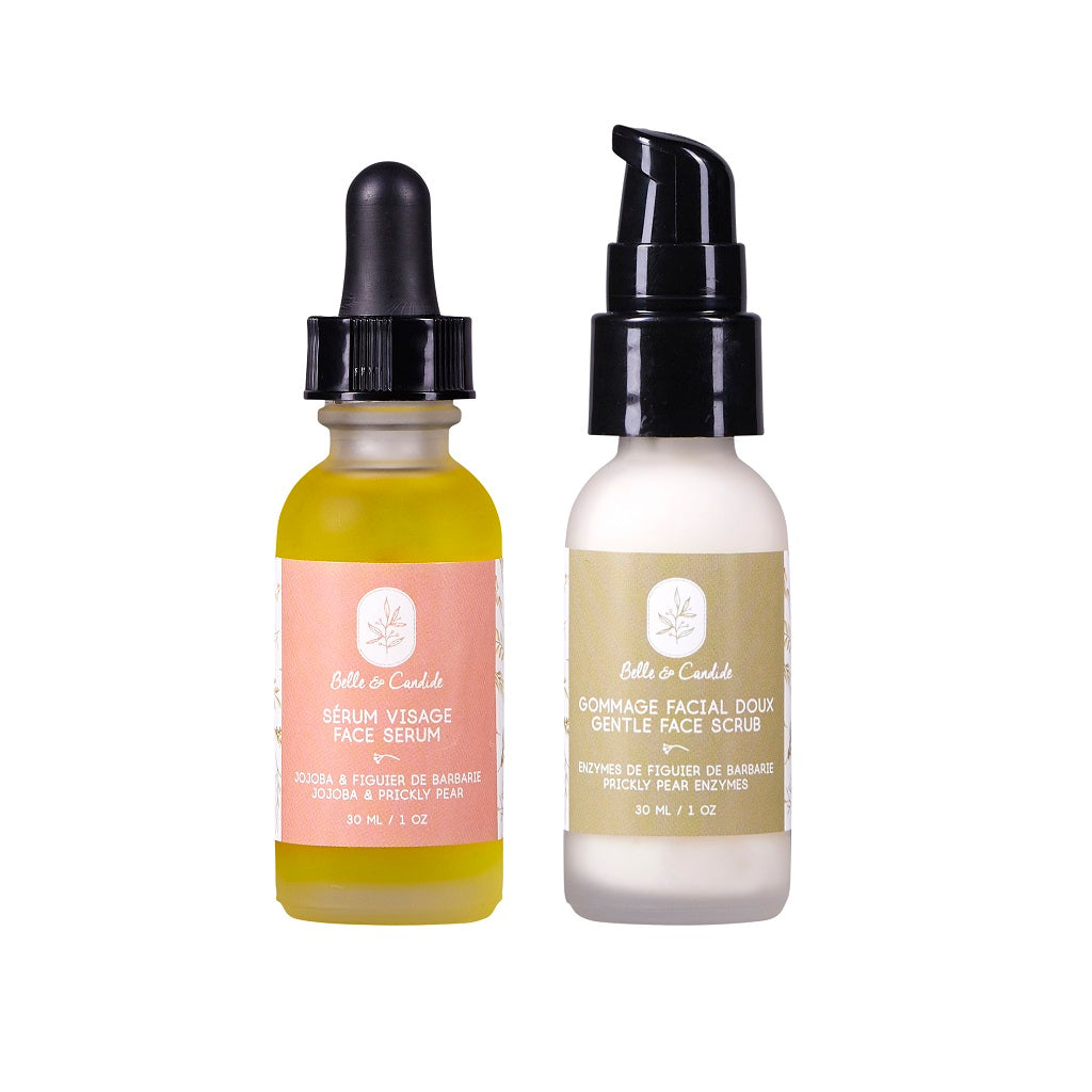 Face Care Set - Prickly Pear Oil (Serum and Exfoliator)