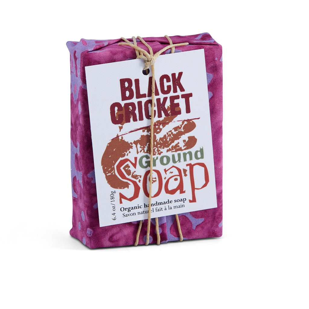 BLACK CRICKET soap with calming and relaxing lavender