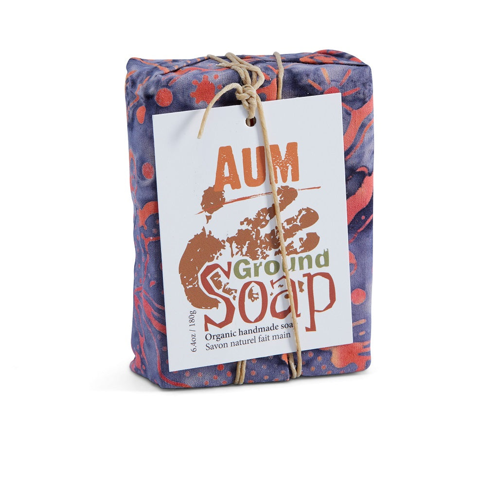 AUM soap with calming patchouli