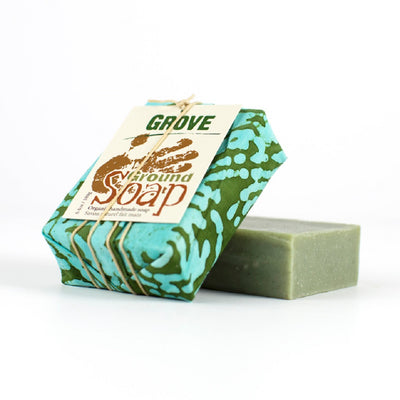 GROVE soap with basil and cedar wood