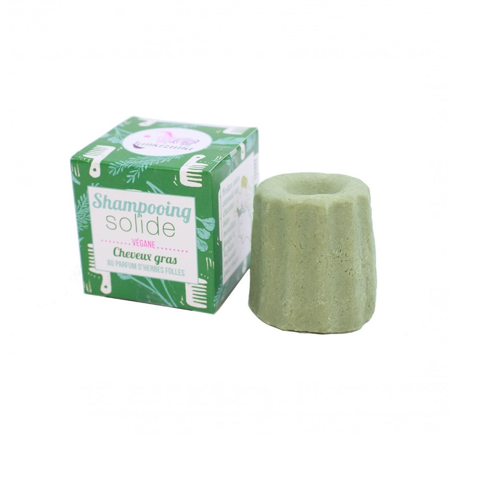 Solid shampoo with natural herbs for oily hair