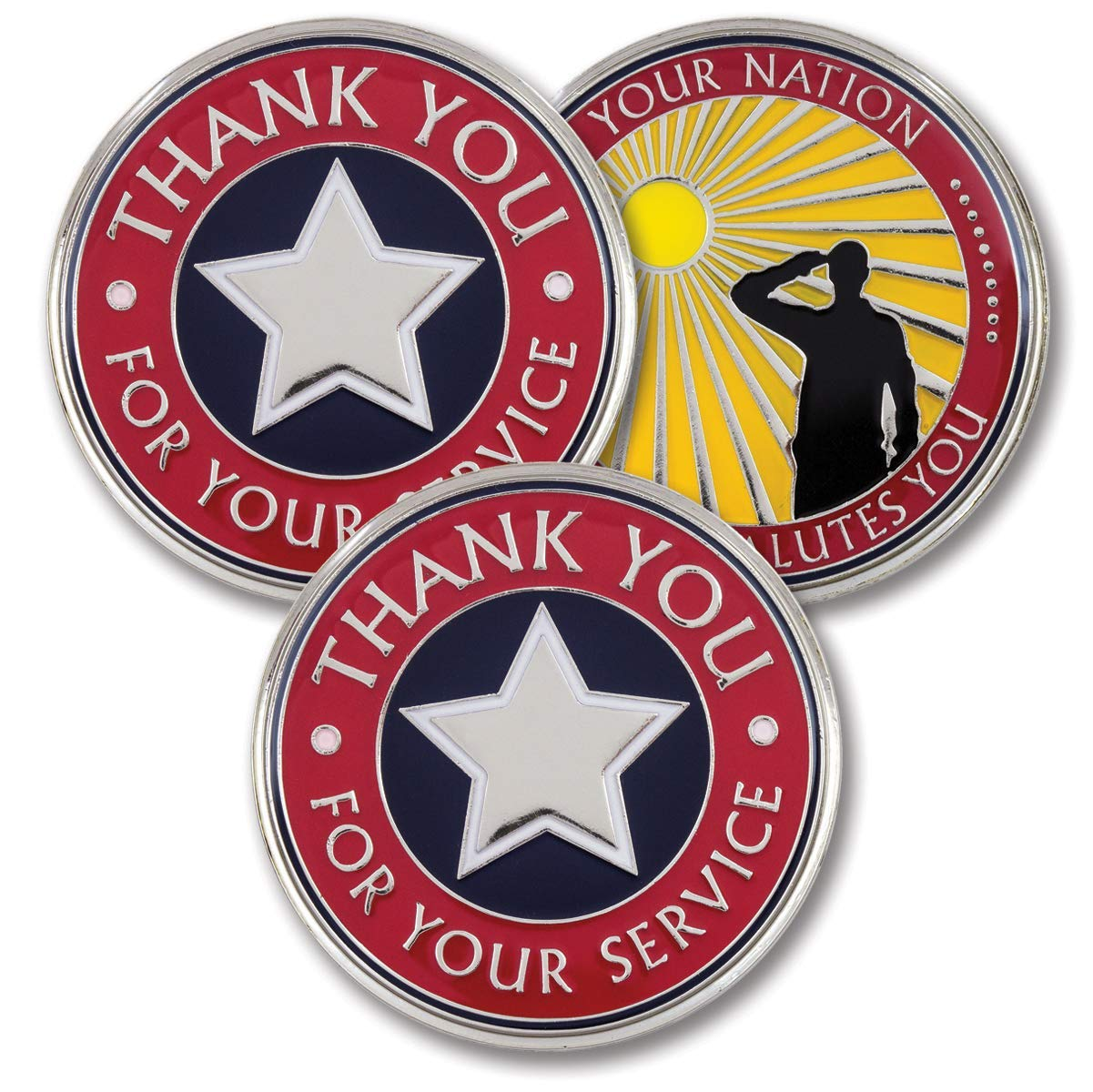 Thank You for Your Service – Challenge Coins – Bold Direct