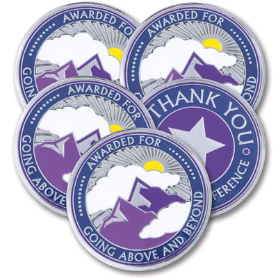 Going Above and Beyond Coins 5 Pack
