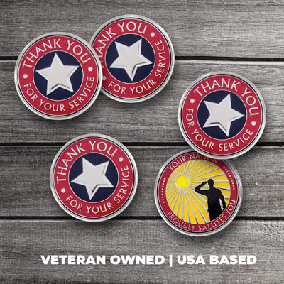 Thank You for Your Service – Veterans Coins