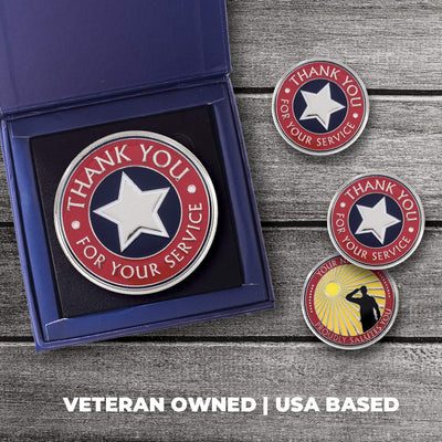 AttaCoin Thank You for Your Service – 3 Inch Metal Coin