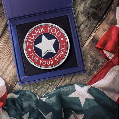Thank You for Your Service Single Large Coin