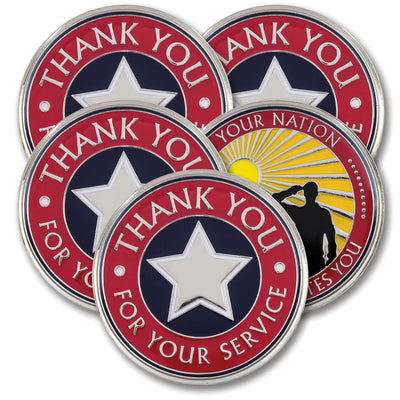Thank You for Your Service Coins (3 or 5 Pack)