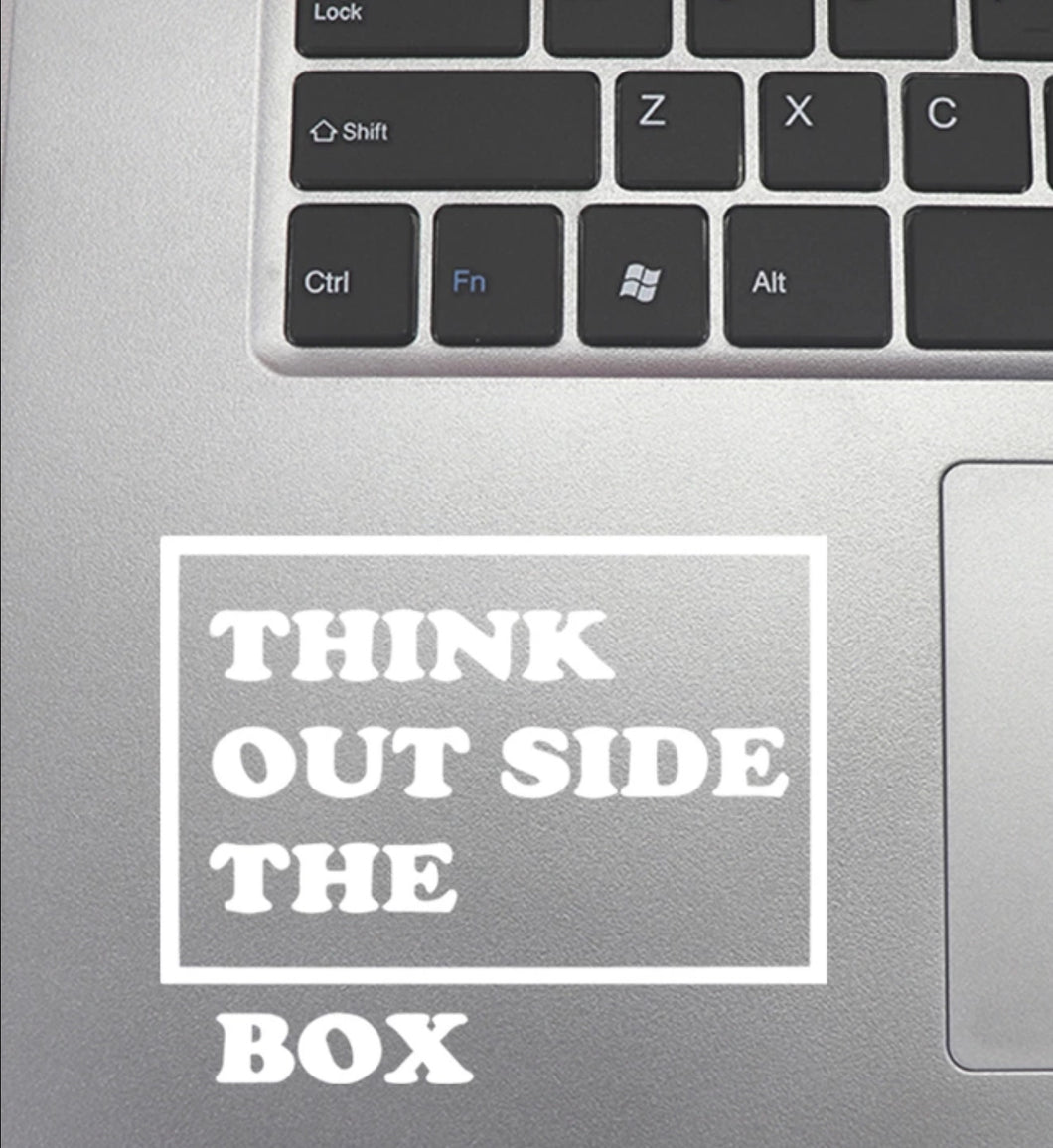 Sticker « think out the box »