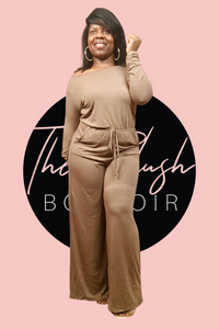 Mocha Long Sleeve Jumpsuit