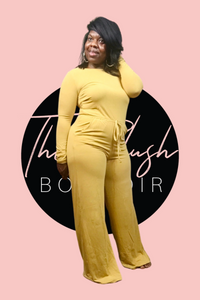 Mustard Long Sleeve Jumpsuit