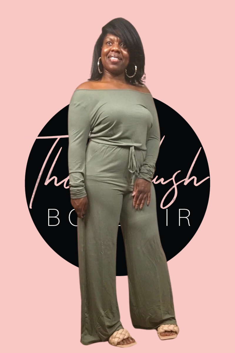Olive Long Sleeve Jumpsuit