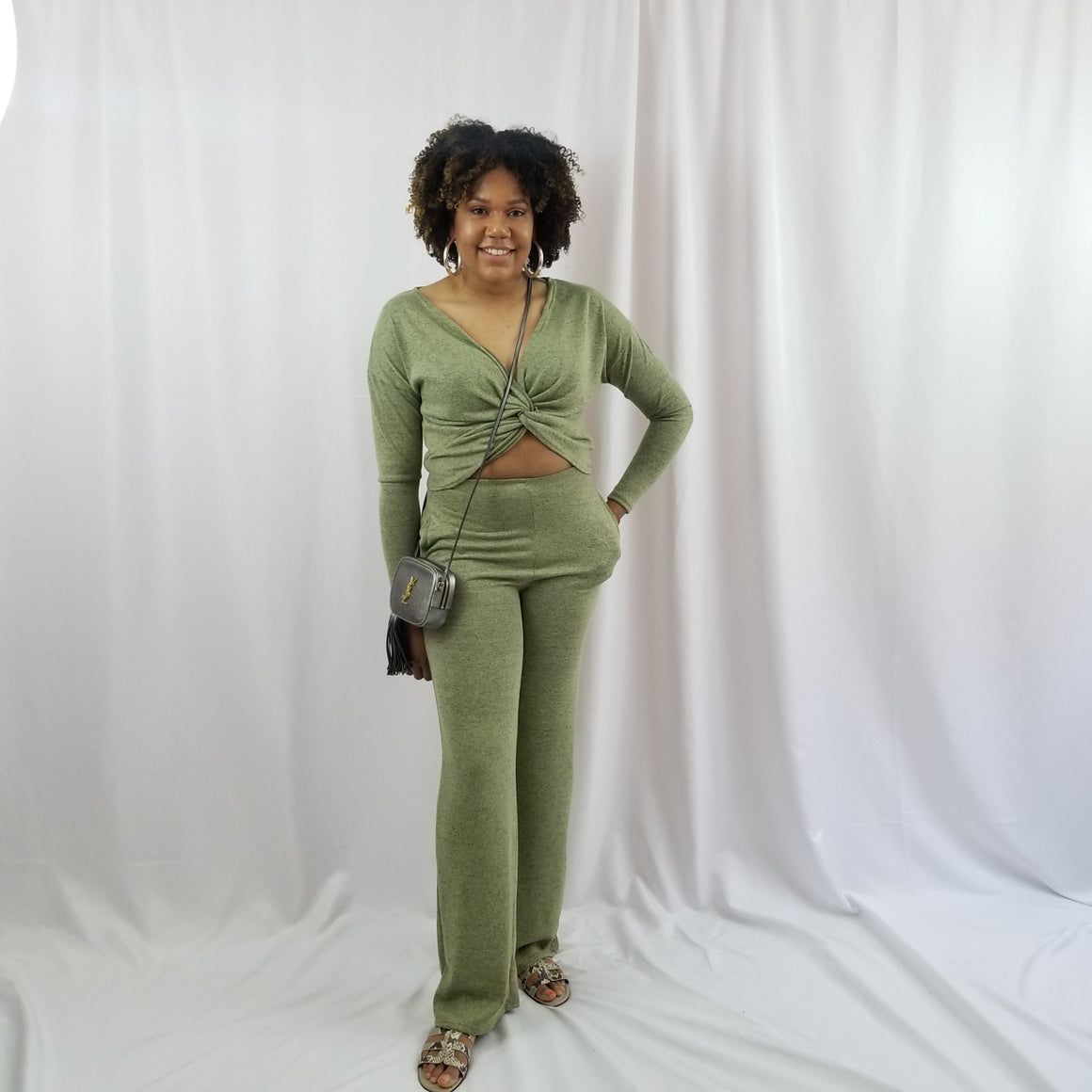 Bresha Twist Top Pant Set
