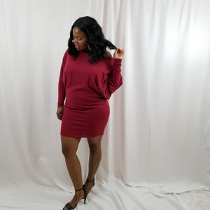 Cinna Off-the-Shoulder Dress- Plus