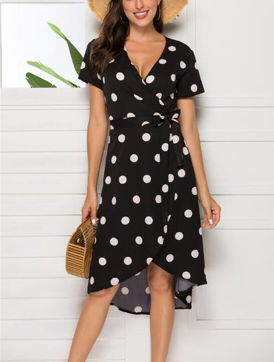 Summer Polka Dot Beach Dresss