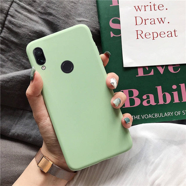matte silicone phone case on for huawei