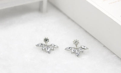 Leaf Angel Wings Geometry Stud Earrings