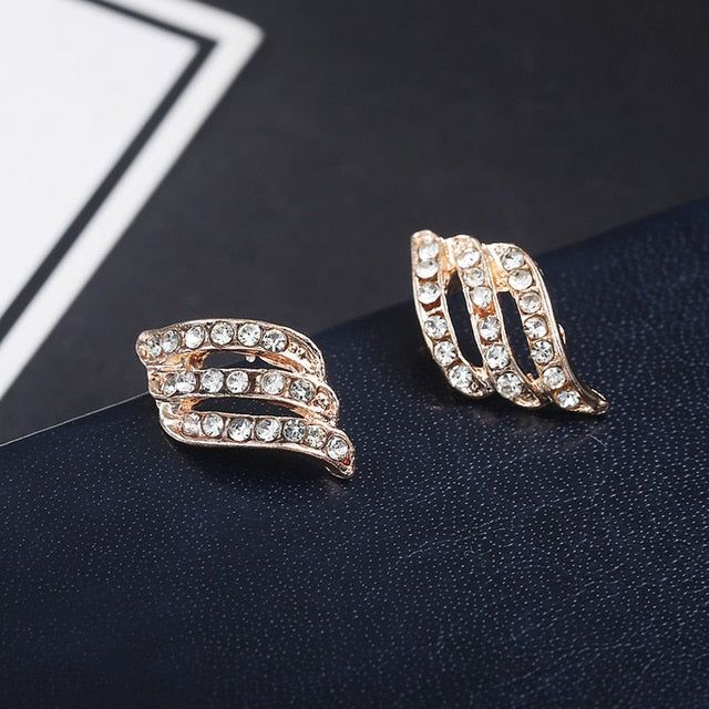 Style Simple Crystal Stud Earrings