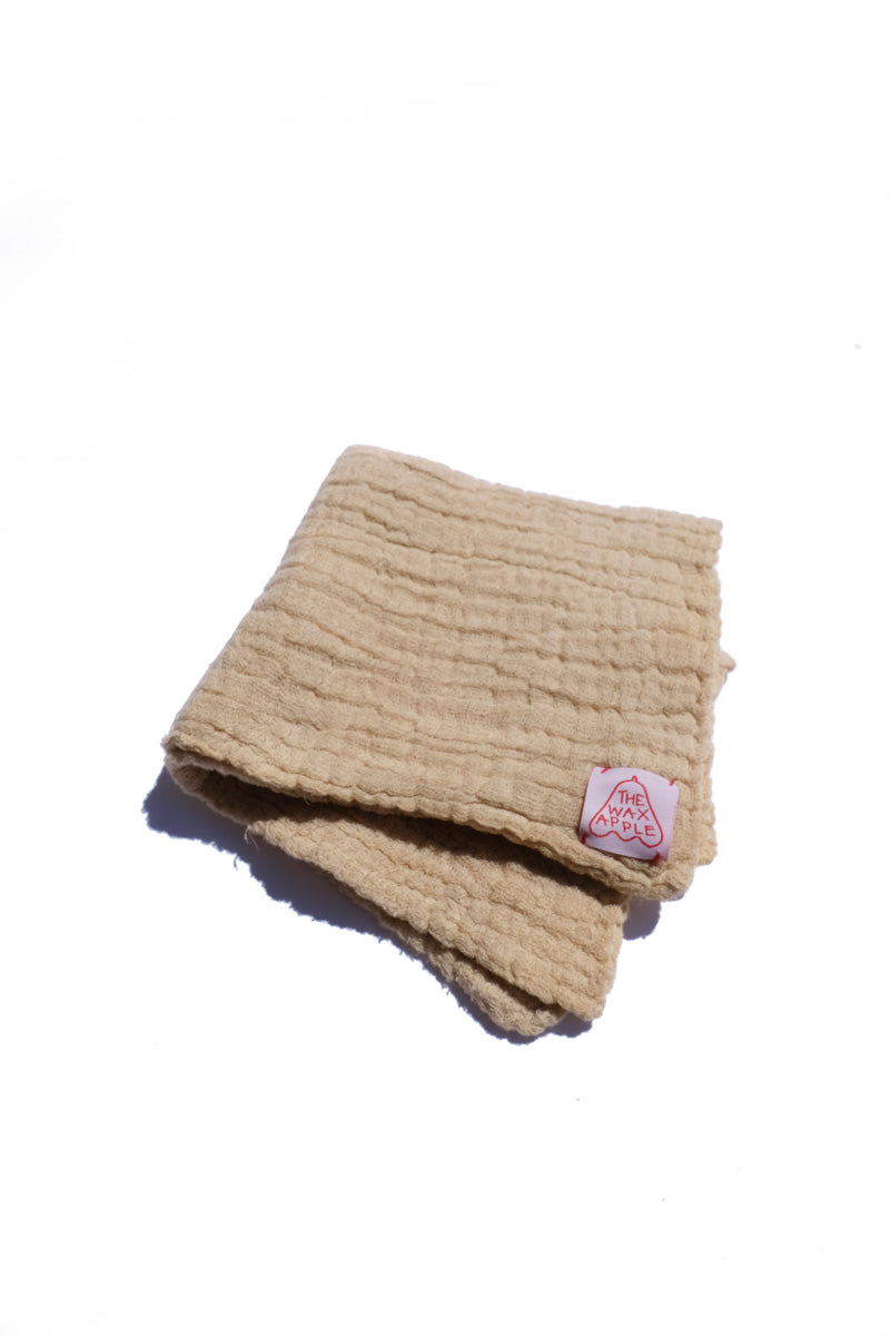 cotton gauze towel - natural